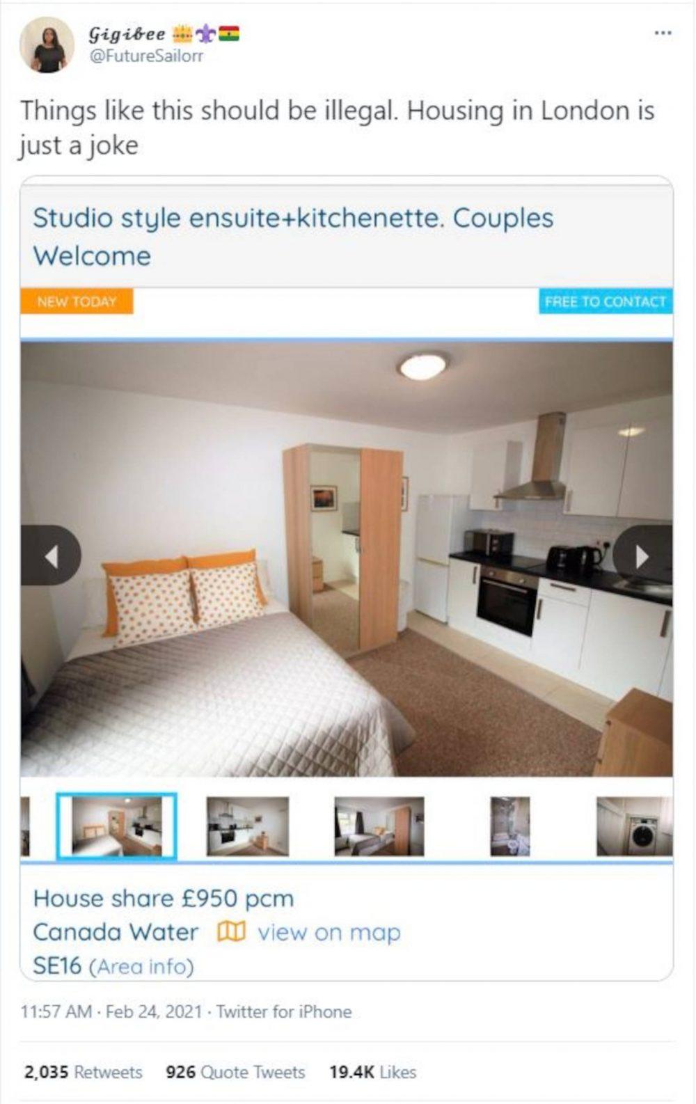 House-hunter slams property prices on Twitter | Property News UK