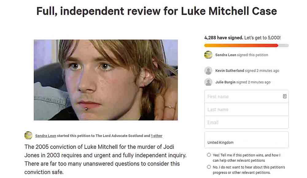 Crime expert starts petition asking for independent inquiry into Luke Mitchell case - Scottish News