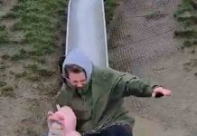 Mum underestimates speed of kiddie slide - Viral Video News