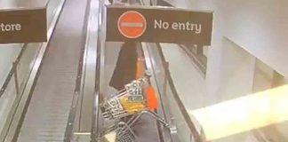 Elderly man loses control on travelator and crashes - Viral Video News UK