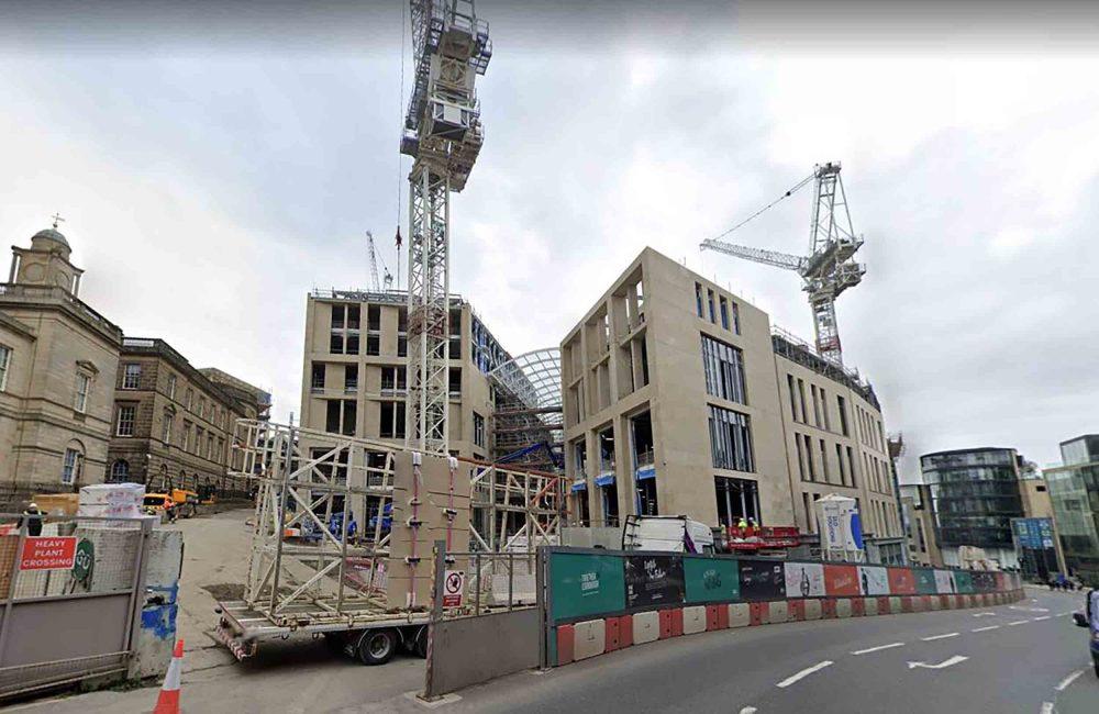 St James Quarter construction