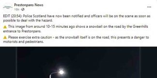 Scots resident calls police over snowball blocking road - Scottish News