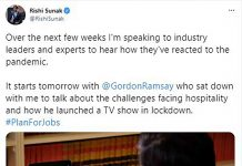 RIshi Sunak's announcement on Twitter - Business News UK