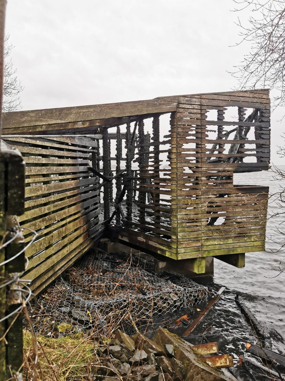 The hide after the fire  © Simon Ritchie NatureScot - Court and Crime News Scotland
