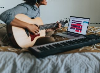 A person making music in their room - Research News Scotland