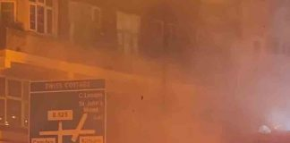 DRAMATIC video shows a bin lorry engulfed in flames on a busy London street - Viral Video News UK
