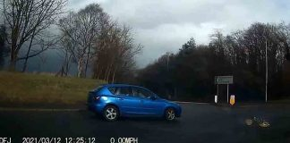 Bizarre dashcam clip shows Mazda driver pull 180 on roundabout - Dash Cam UK