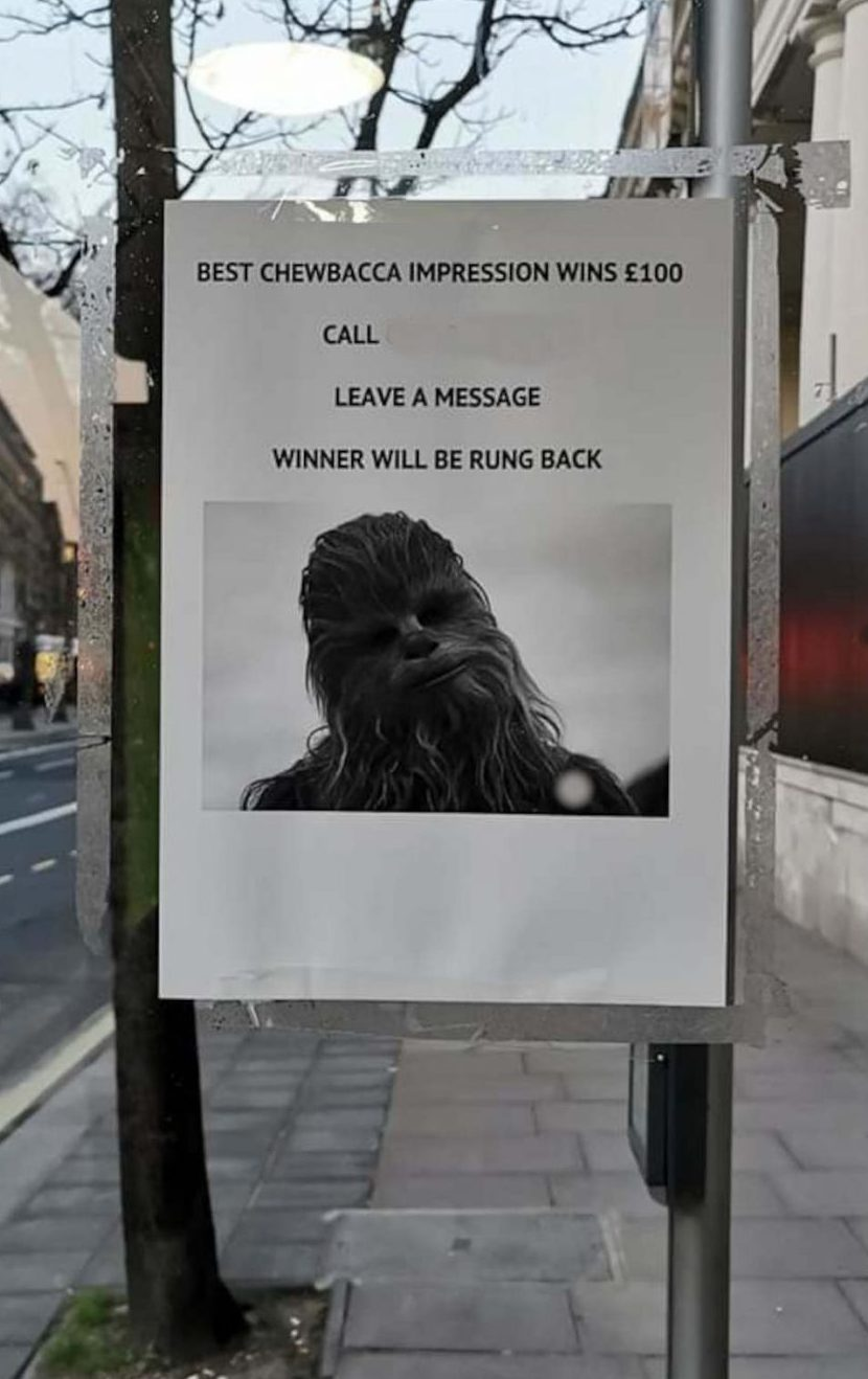 Chewbacca Competition   UK News