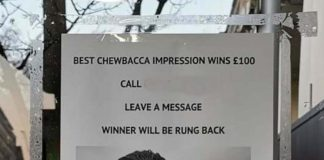 Chewbacca Competition | UK News