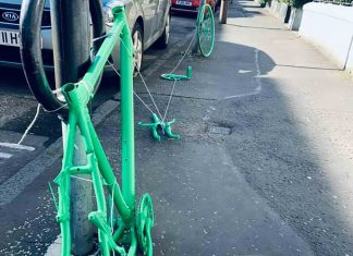 Bike theft art display | Scottish News
