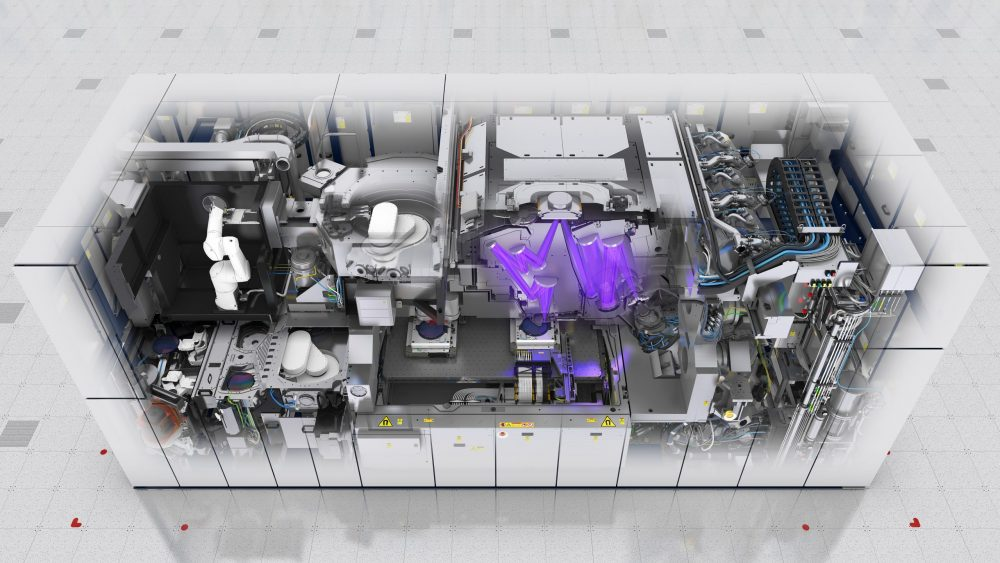 Example of ASML's technology (EUV lithography system, NXE_3400B, wafer stage, alignment sensor) Credit ASML - Research News Scotland
