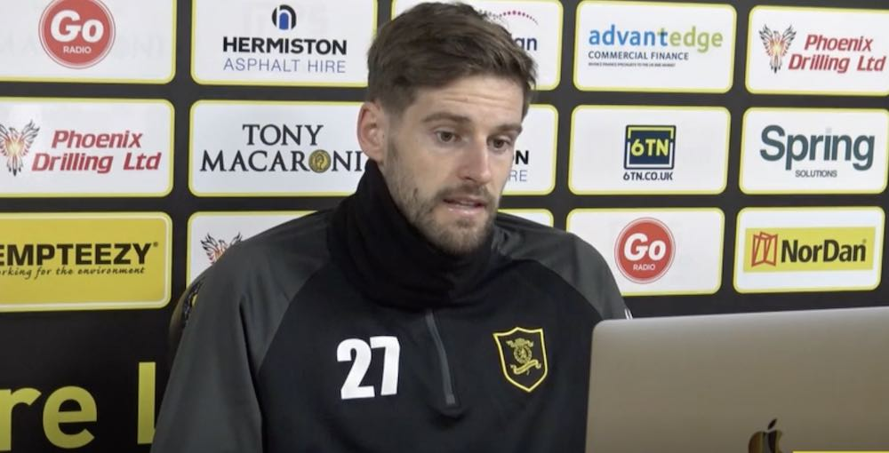 Jon Guthrie speaks to the assorted media via Zoom | Livingston news