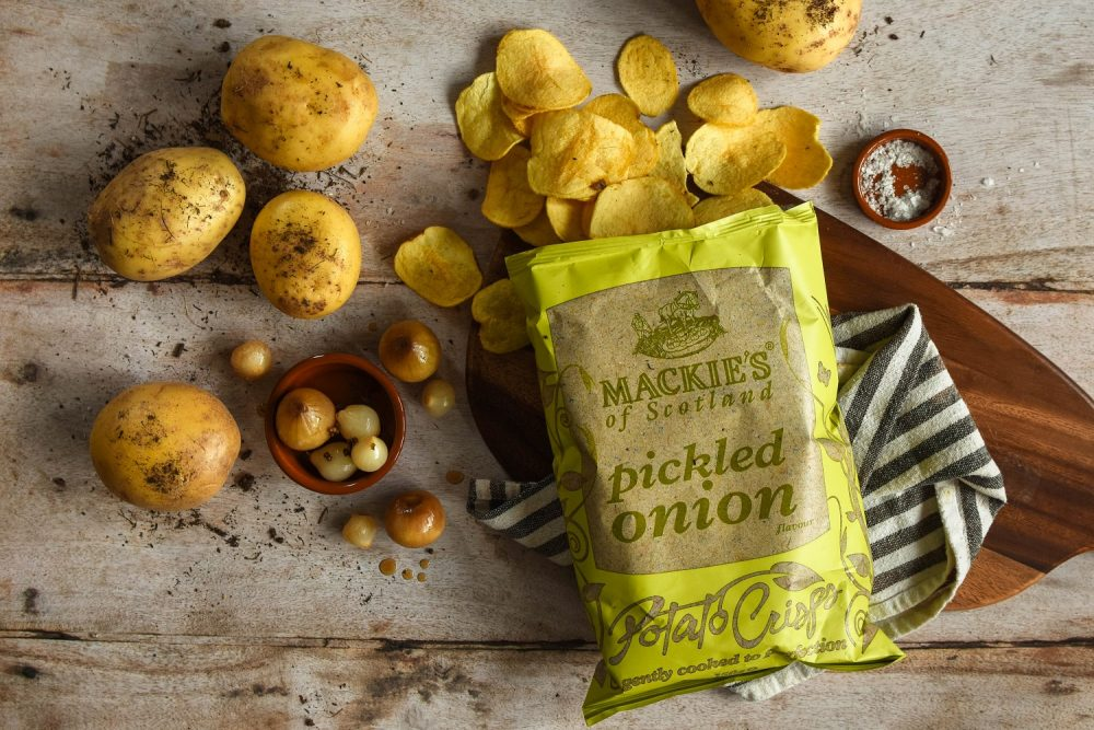 Mackies Pickled Onion Crisps - Food and Drink News Scotland