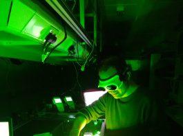 Professor John Travers, Heriot-Watt University uses a laser in the lab. Credit_ Heriot-Watt University - Research News Scotland