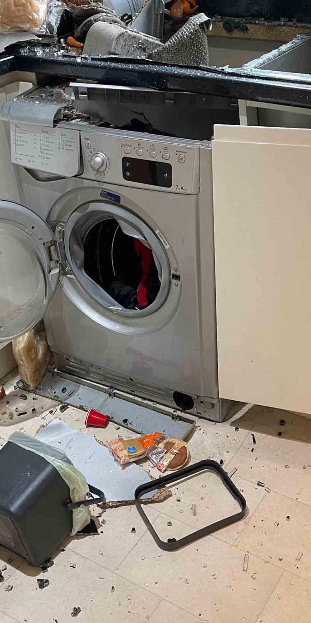 Scots mum shares images of exploding washing machine - Scottish News