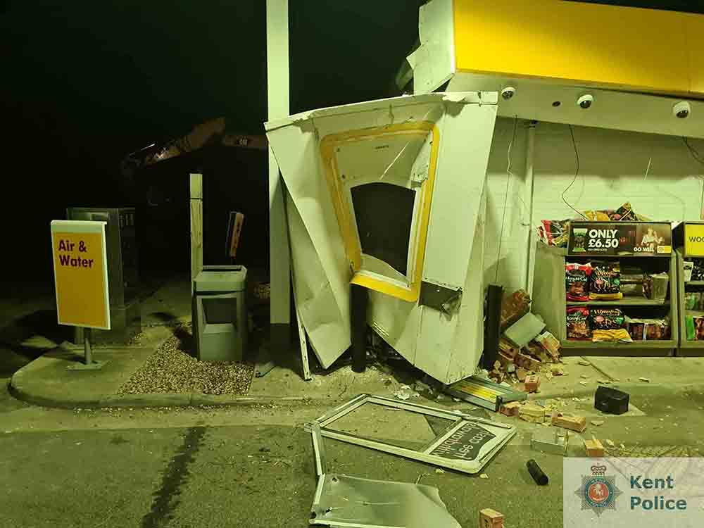 POLICE have launched an appeal after thieves managed to pull an ATM machine out of a petrol station with a digger - Police News UK