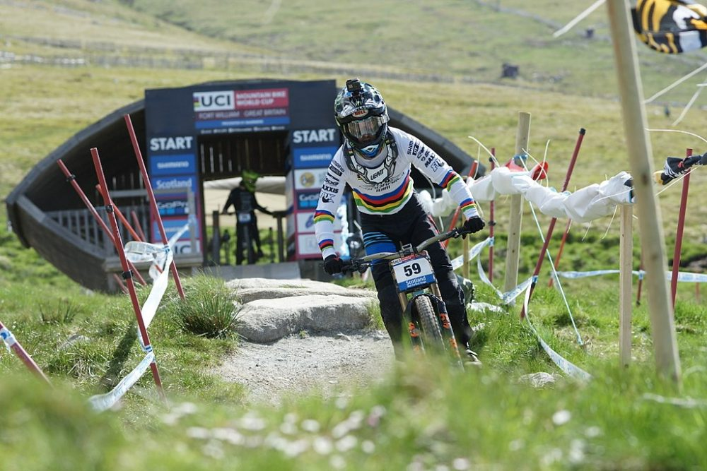 Danny Hart UCI World Cup Fort William 2017 starting gate - Sports News Scotland