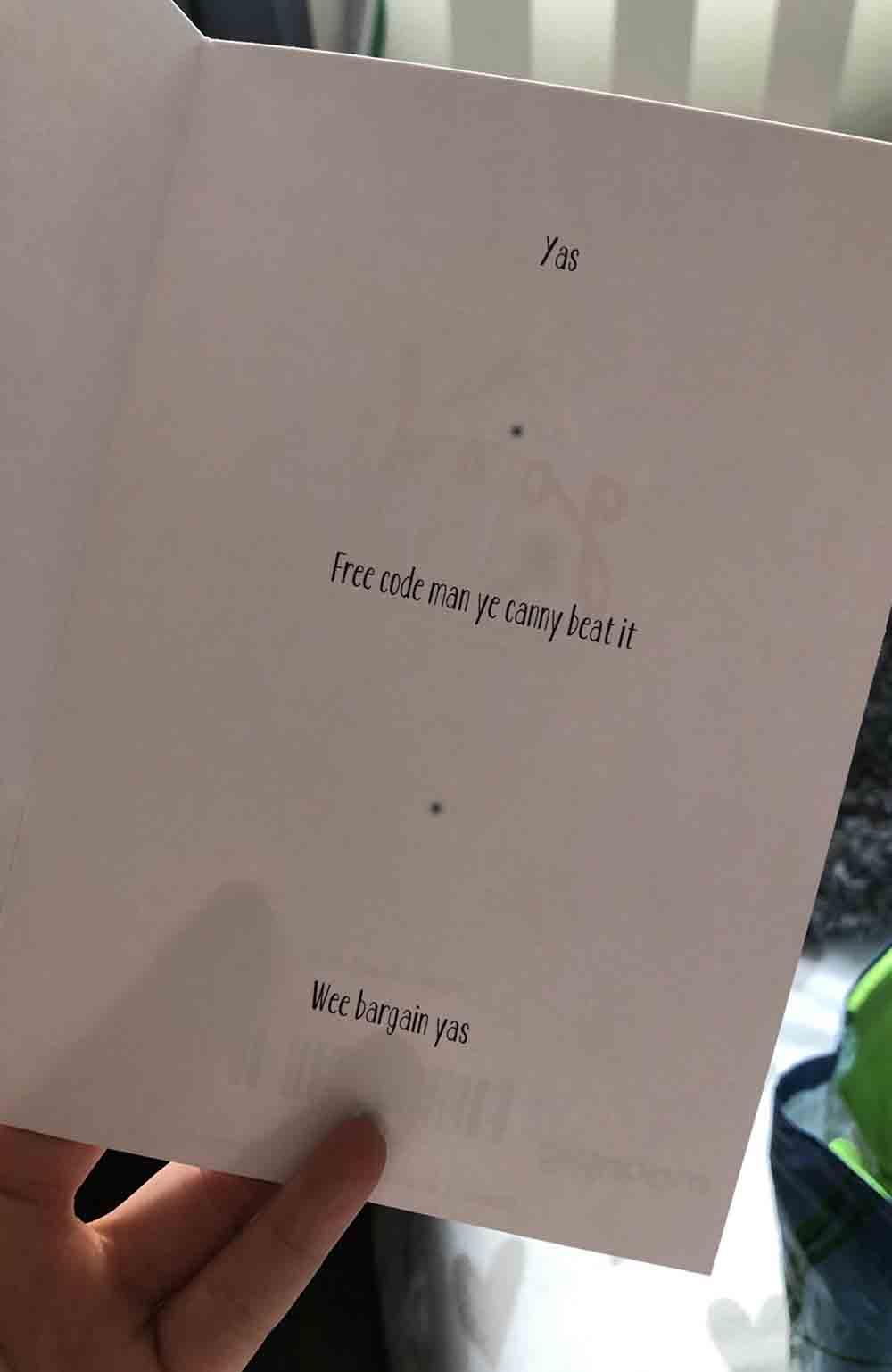 "Scot shares hilarious pics of ""bargain"" card from hopeless romantic boyfriend - Scottish News"