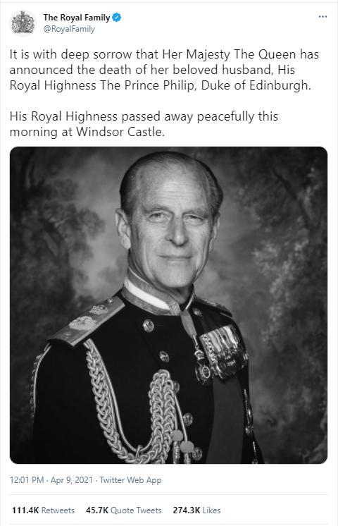 Buckingham Palace tweet - UK and World News