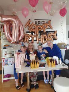 Jean with her grandchildren-Scottish News