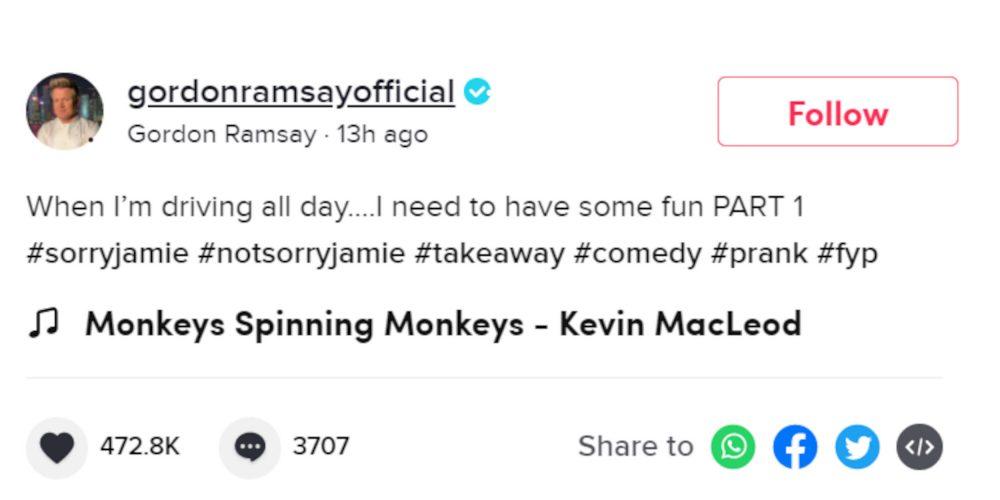 Gordon Ramsay TikTok prank | Entertainment News UK