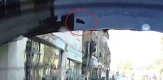 Dash cam footage shows chimney crash through Mercedes rear window - Scottish News