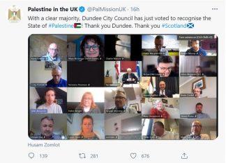 Palestine in the UK-Scottish News
