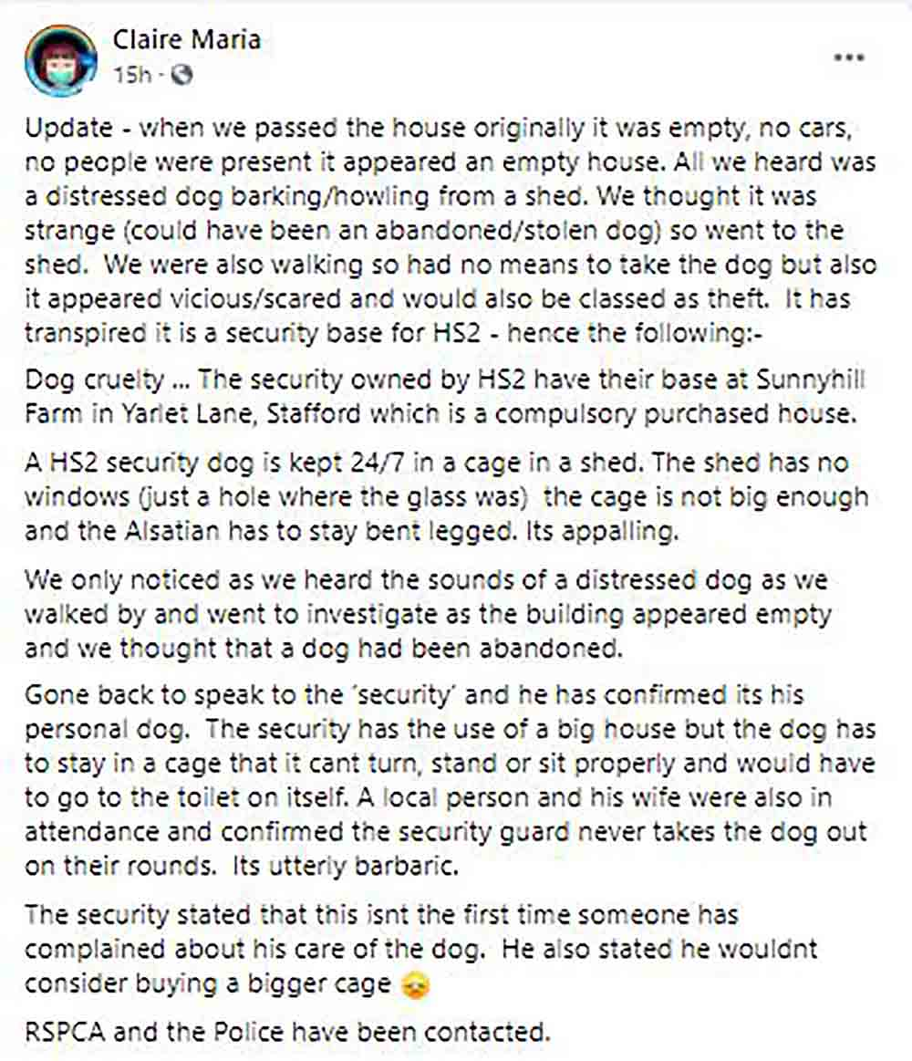 RSPCA investigate images of dog trapped in cage - Animal News