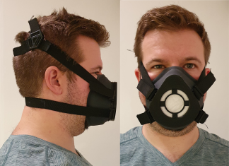 Researcher wearing a reusable mask - Coronavirus News Scotland