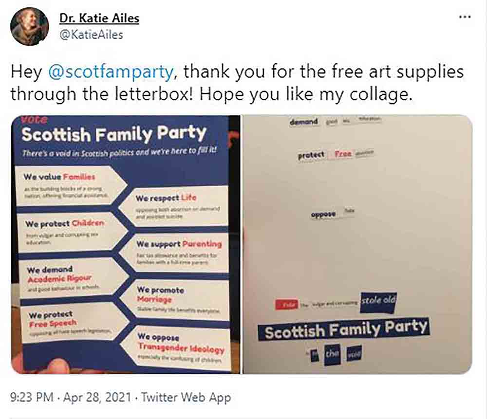 Poet chops up controversial party flyer - Scottish News