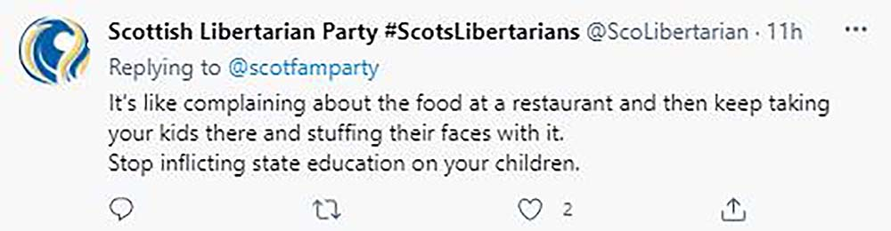 Scottish political party slam schooling system for apparent indoctrination - Scottish News