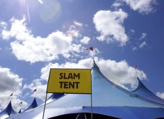 Slam Tent sign - Entertainment News Scotland