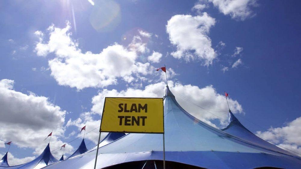 Slam Tent sign - Entertainment News Scotland