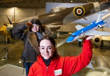 A women holding a lego plane - Scottish News