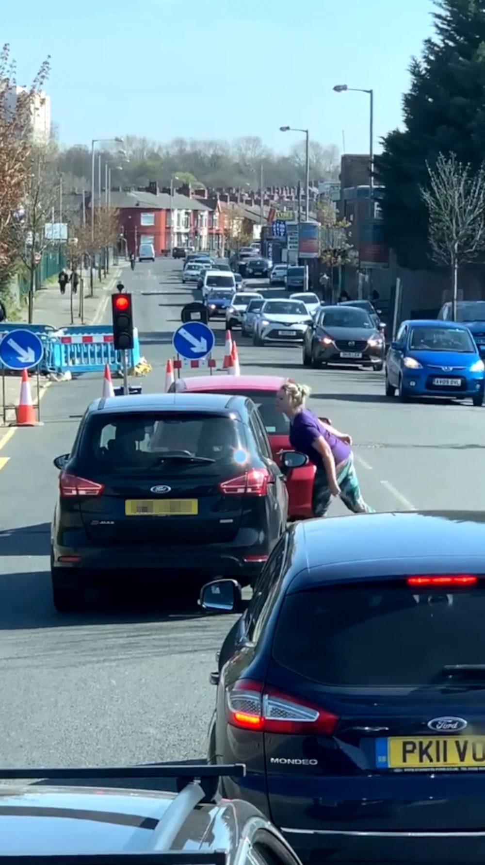 Woman spits on car   Transport News UK