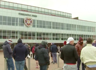 Hearts fans at Tynecastle | Hearts news