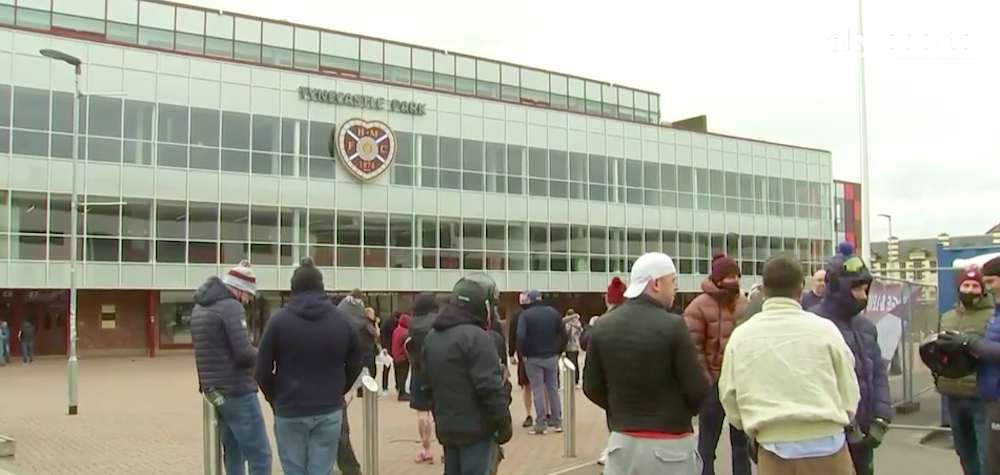 Hearts fans at Tynecastle   Hearts news