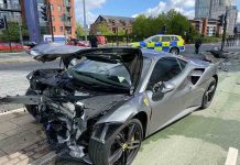 £250k Ferrari destroyed in car crash on 30mph road - Police News