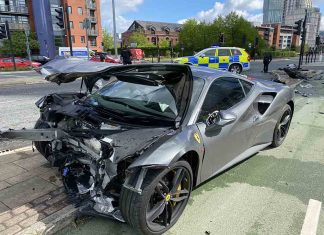 £250k Ferrari destroyed in car crash on 30mph road - Police News