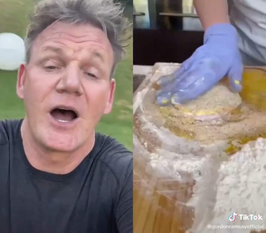 """GORDON Ramsay has roasted an American for her deep fried grilled sandwich saying """"it looks like a deep fried hockey puck"""". - Scottish News"""