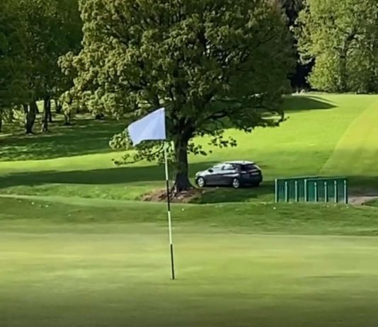 Car on Golf Course - Scottish News