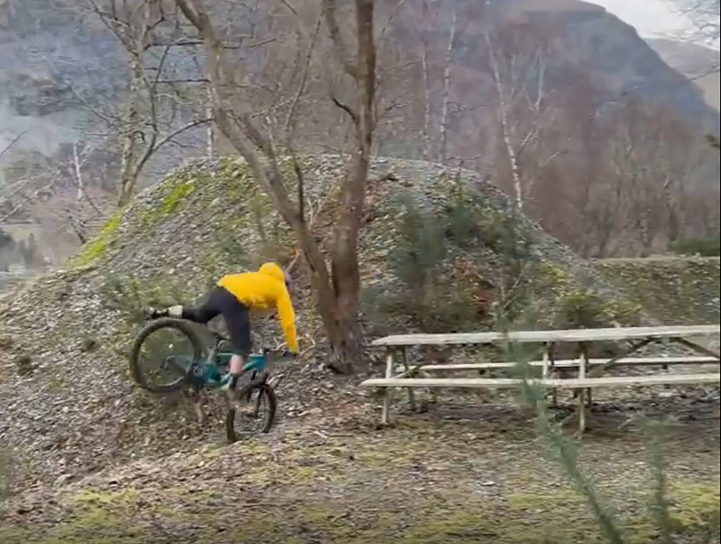Danny MacAskill bailing out of a grind - Scottish Sports News