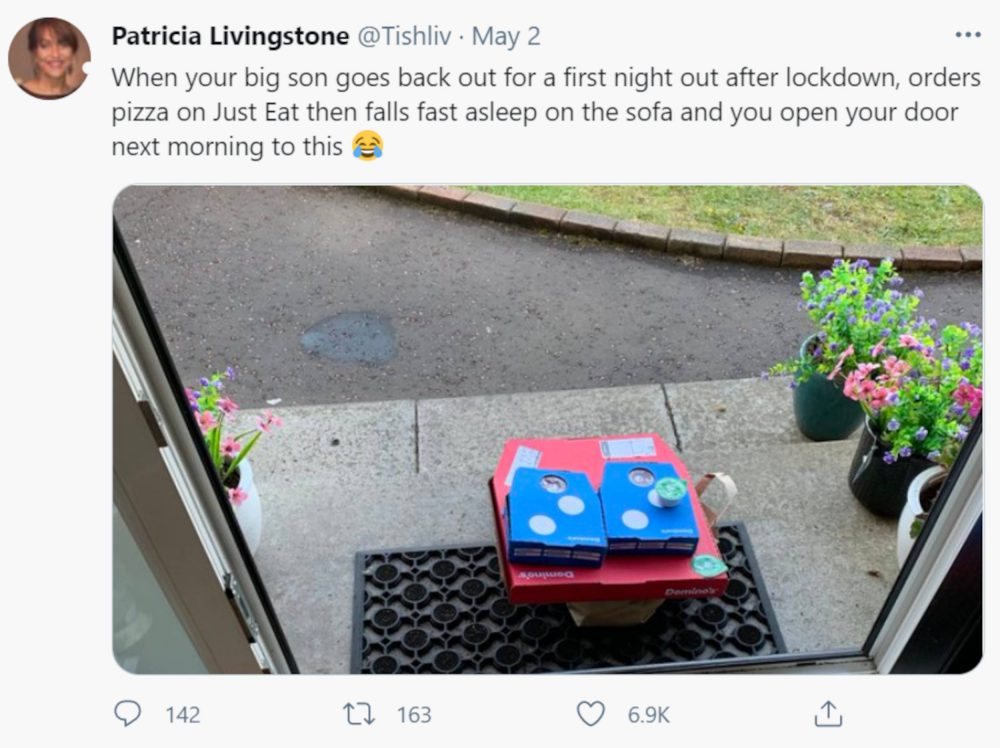 Patricia Livingstone woke up to Domino's on her doorstep | Food and Drink News UK