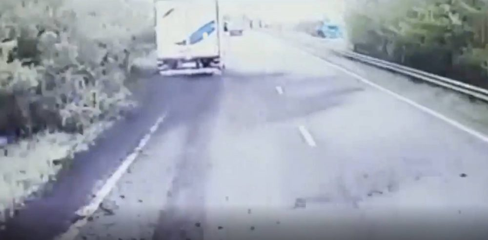 Drunk HGV driver skidding | Dashcam footage UK