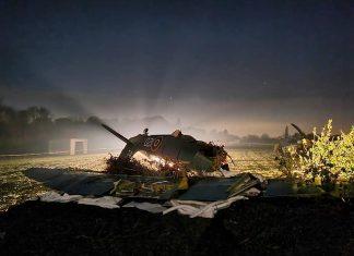 the aftermath of a historic Hawker Sea Fury aircraft crash  UK and world news
