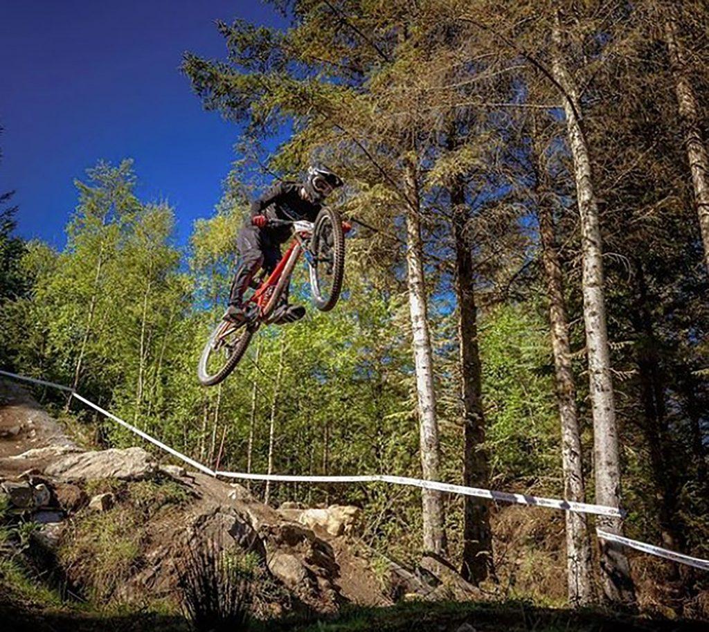 Jamie works at the mountain bike park - UK News