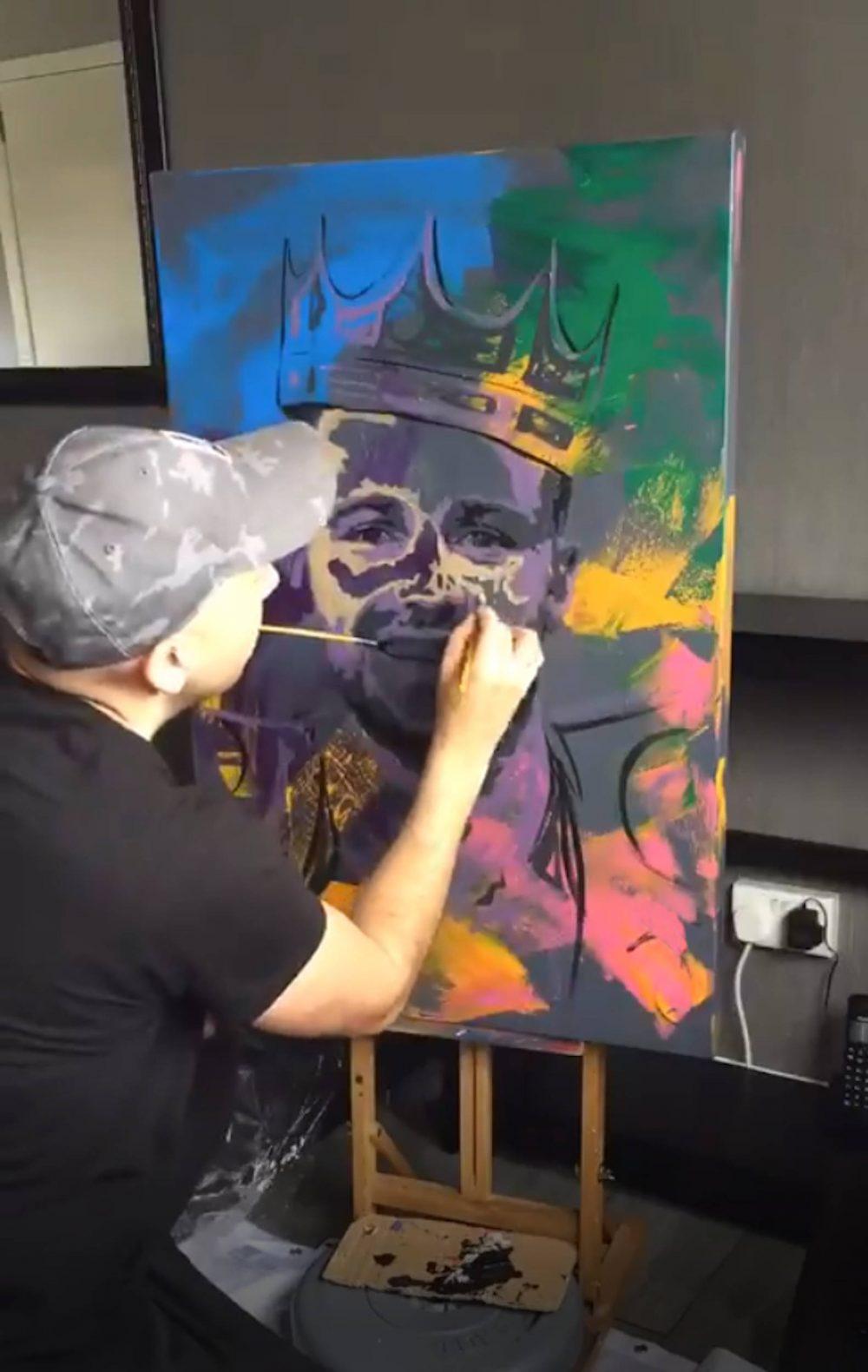 Chris Harland paints Josh Taylor   Scottish News