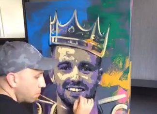Chris Harland paints Josh Taylor | Scottish News