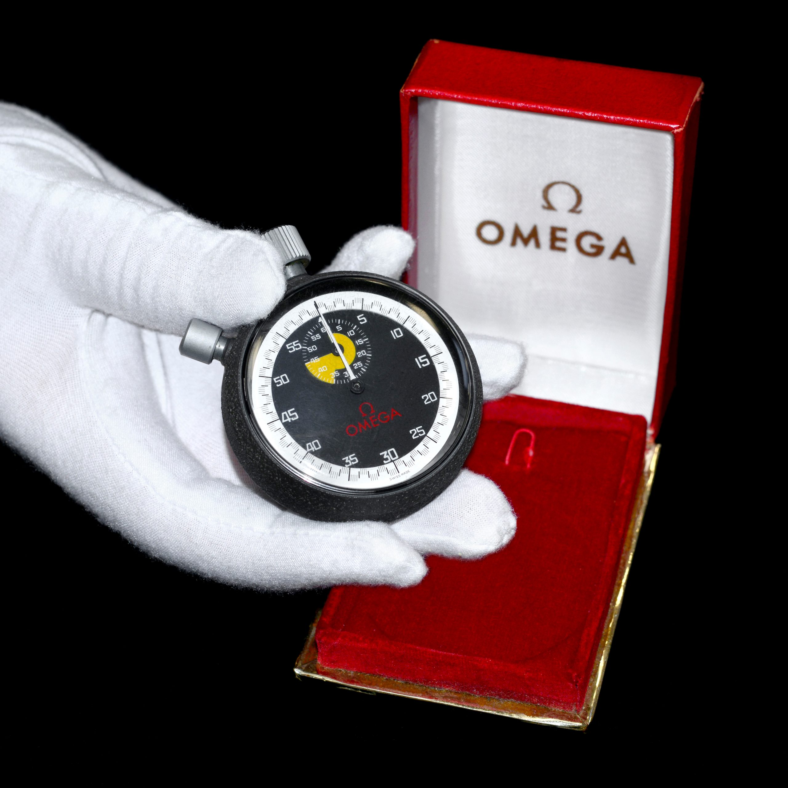 Jack Taylor Omega Stopwatch hand shot_Property of Fellows Auctioneers - Business News Scotland