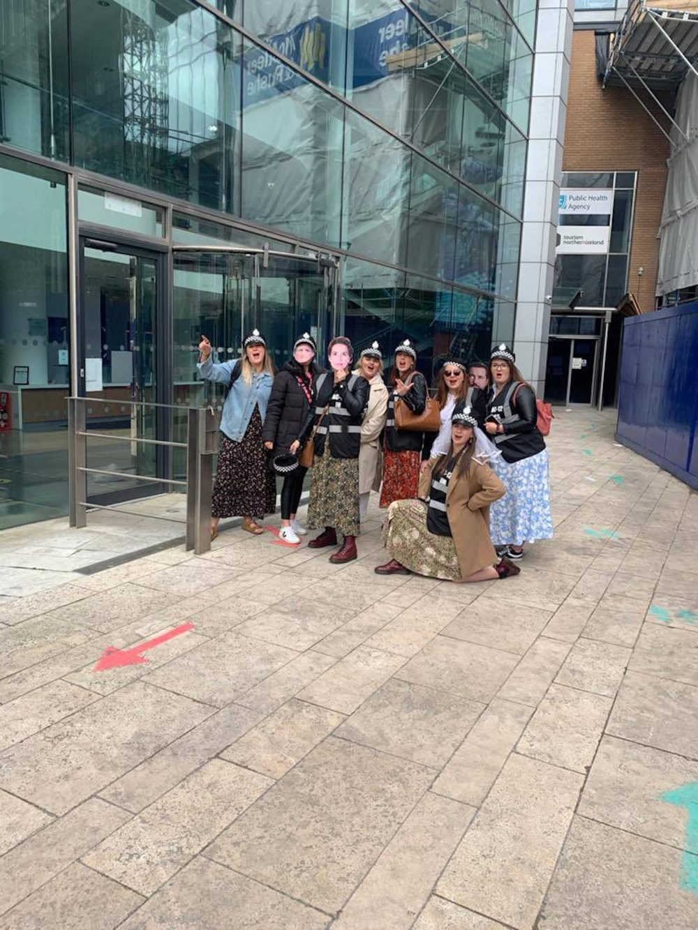 Line of Duty hen party posing | Marriage News UK